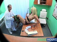 FakeHospital Sexy suspicious wife has sex with him in office