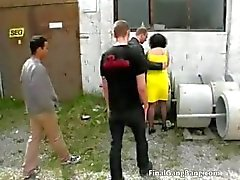 Nasty brunett MILF hora blåser cock part6