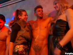 Real amateur girls suck and fuck male strippers