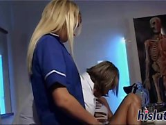 Karla and Suzie swap a hot load