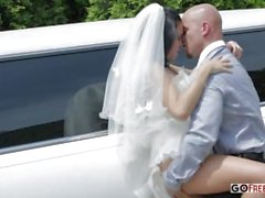 The limousine driver fucks hot wife