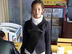 Ragazza sveglia cinese di Meng ha dello Li masturbarsi in cam