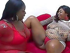 Two Bbw African Black Lesbians T