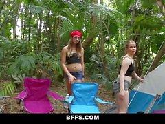 BFFS Camping Sluts Fuck Homeless Man
