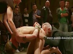 Man in costume coming group gay sex