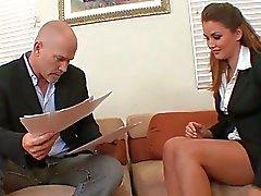 Täyden Sex toimistossa pomo