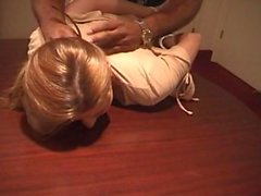 Erica Campbell hogtied chains