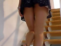 Babe in heels prepared to fuck old guy
