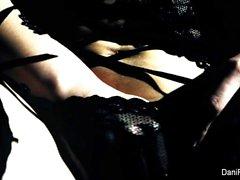 Erotic solo session with brunette cutie Dani Daniels