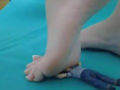 giantess trample little man
