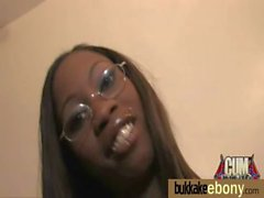 Hot ebony chick love gangbang interracial 10