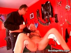 Blonde amazing slut getting t0rtured
