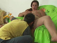 Fat mature loves a young raging boner