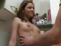 Amateur girlfriend hardcore action with cumshot