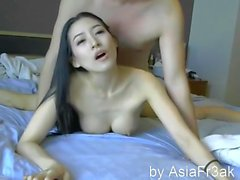 Hot Chinese Couple. Asians in Hotel