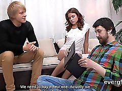 Bankrupt stud lets wacky buddy to screw his gf for money