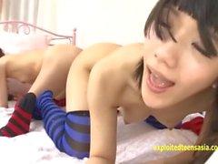 Rina Hatsume Ichigo Aoi Utforska alla andra butter med dildon och fingrar