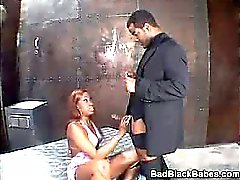Angel Eyes Mouthing a Cock