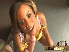 Ebony babe gets multiple white dicks 24