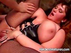 Nasty grandma with big tits