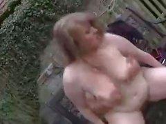 Cute plumper outdoor fucking