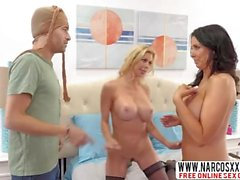 Naughty Mom Alexis Fawx And Mom Reagan Foxx In Stockings Gets Threesome