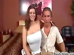 Busty Bride Sara Stone gets fucked by Another Man