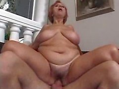 Mature Chubby Enjoys Younger Male!