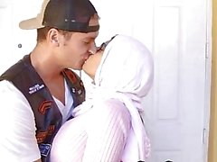 Arab Mom and Girl with her boyfriend