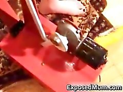 Mother caught using dildo machine part6
