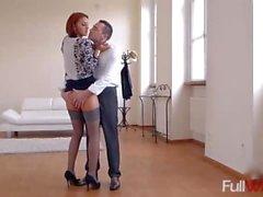 Aylin Diamond - Dance Lesson Footjob - (Hot Legs And Feet)