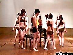 Super hete Japanse meisjes knipperende