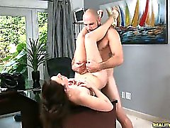 Chloecummore gets her pussy pounded as her juicy ass bounces.