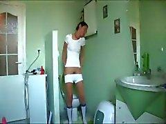 danish Natasha at water closet