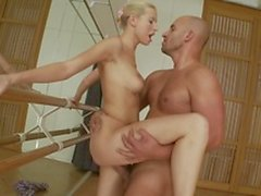 Hot Ballerina Takes Cock After Exercise