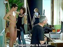 Naakte Man met Aangeklede Vrouw