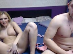 Cock Hungry Blonde Pleasures Her Man Well