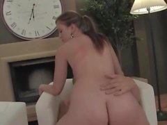 Young girl after sex gets cum on butt
