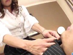 Hard office sex along naughty Japan hottie, Aya Sakuraba