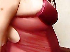 Juteux amie enceinte dans la lingerie chauds