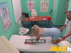 Fake Hospital Fast fucking gives blonde big tits Brit multip