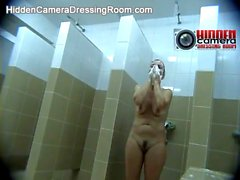 Spy camera in a public shower