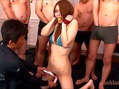 Dominated slut Yayoi Orikami gets bukkake