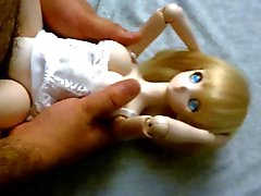 Blondine cute anime Dollfies onahole poupée de baise