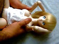 Bionda che cute anime Dollfie onahole della bambola scopata