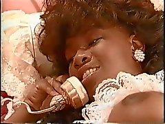 African vintage pornstar Sade banged by 2 white