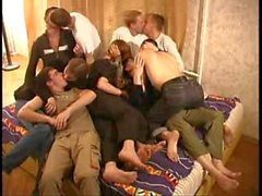 Russian Group Orgy