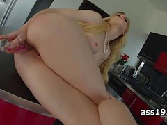 Rosella Visconti ass pounded on kitchen table
