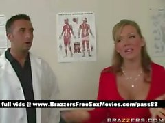 Amateur blonde chick at the doctor