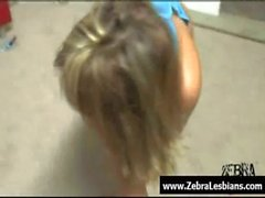 Zebra Girls - Ebony lesbian babes enjoy deep strap-on fuck 17